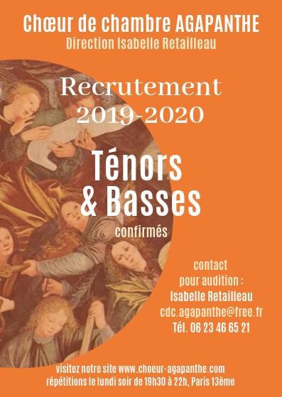 Recrutement 2019-2020